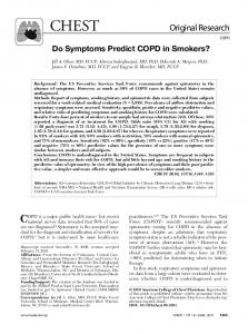 Do Symptoms Predict COPD in Smokers?