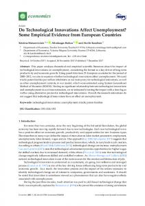 Do Technological Innovations Affect Unemployment? Some ... - MDPI