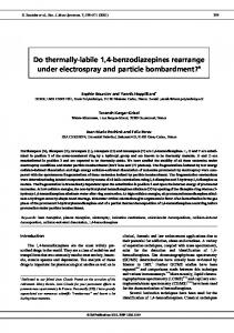 Do thermally-labile 1,4-benzodiazepines rearrange ... - SAGE Journals