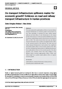 Do transport infrastructure spillovers matter for ... - Wiley Online Library