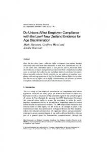 Do Unions Affect Employer Compliance with the ... - Wiley Online Library