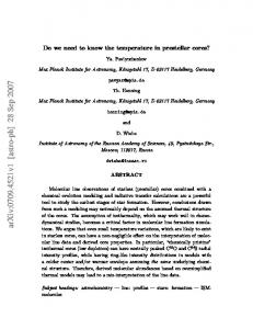 Do we need to know the temperature in prestellar cores?