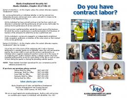 Do you have contract labor? - Alaska Department of Labor and ...