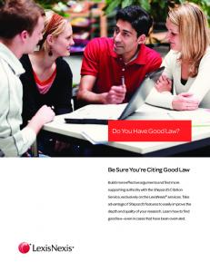 Do You Have Good Law? - LexisNexis