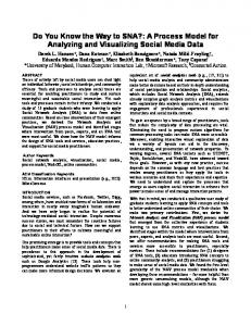 Do You Know the Way to SNA?: A Process Model for Analyzing and ...