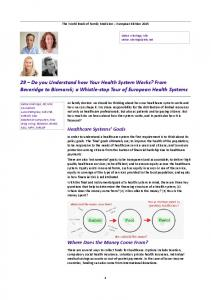 Do you Understand how Your Health System Works? - Wonca Europe