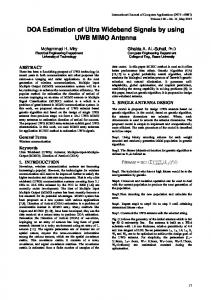 DOA Estimation of Ultra Wideband Signals by