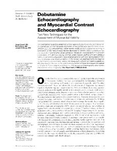 Dobutamine Echocardiography and Myocardial Contrast - Europe PMC