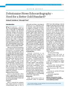 Dobutamine Stress Echocardiography - Journal of the Association of ...