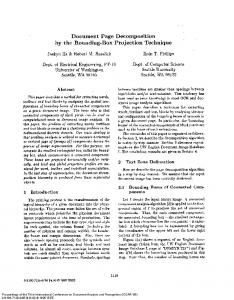 Document Page Decomposition by the Bounding ... - Robert Haralick