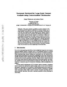 Document Retrieval for Large Scale Content Analysis using ...