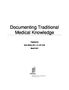 Documenting Traditional Medical Knowledge