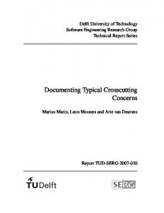 Documenting Typical Crosscutting Concerns - swerl