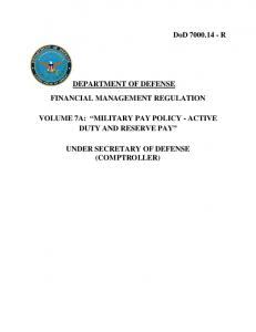 DoD 7000.14 - R DEPARTMENT OF DEFENSE FINANCIAL ...