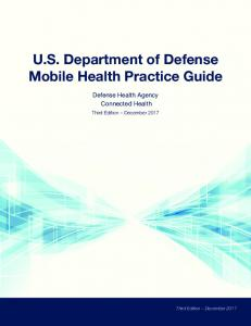 DOD Mobile Health Practice Guide 3rd Edition