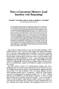 Does a concurrent memory load interfere with ... - Springer Link