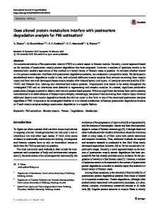 Does altered protein metabolism interfere with ... - Springer Link