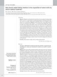Does bench model fidelity interfere in the ... - Semantic Scholar