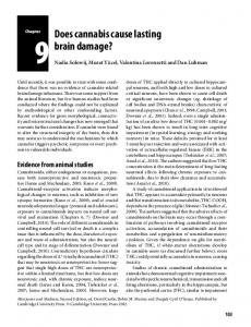 Does cannabis cause lasting brain damage?