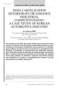 does cartelization deteriorate or enhance industrial ...
