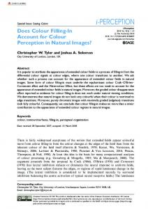 Does Colour Filling-In Account for Colour Perception ... - SAGE Journals