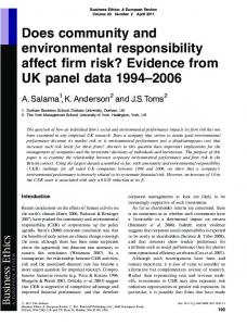 Does community and environmental ... - Wiley Online Library