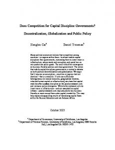 Does Competition for Capital Discipline Governments - UCLA ...