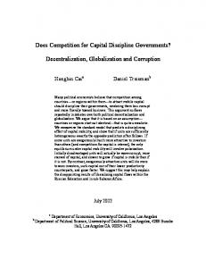 Does Competition for Capital Discipline Governments