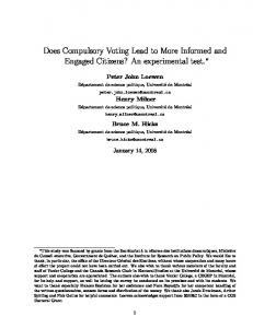 Does Compulsory Voting Lead to More Informed and ... - CiteSeerX