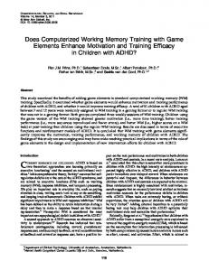 Does Computerized Working Memory Training with Game Elements ...
