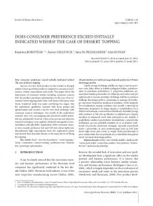 does consumer preference exceed initially indicated wishes?