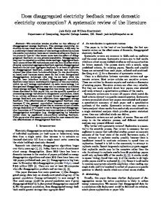Does disaggregated electricity feedback reduce domestic electricity ...