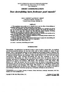 Does electrofishing harm freshwater pearl ... - Wiley Online Library