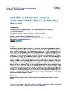 Does FDI Crowd in or out Domestic Investment? - Scientific Research ...