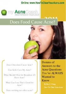 Does Food Cause Acne? - Clear Your Acne