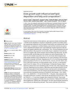 Does growth path influence beef lipid deposition and fatty acid ... - PLOS