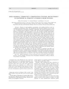 does mammal community composition control recruitment in ...