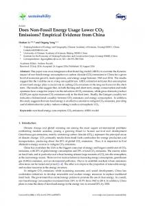 Does Non-Fossil Energy Usage Lower CO2 Emissions ... - MDPI