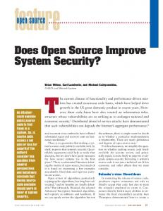 Does open source improve system security? - IEEE ... - Carl Landwehr