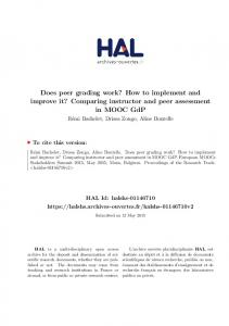 Does peer grading... - HAL-Inria