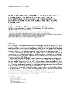 Does Preoperative Radiotherapy with Postoperative ... - SAGE Journals