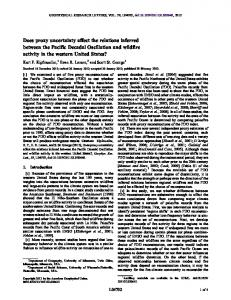 Does proxy uncertainty affect the relations ... - Wiley Online Library