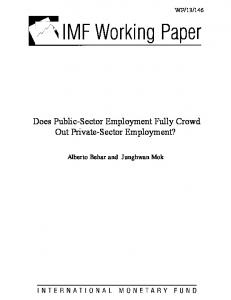 Does Public-Sector Employment Fully Crowd Out Private-Sector ... - IMF