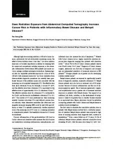 Does Radiation Exposure from Abdominal Computed ... - Gut and Liver
