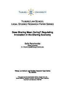 Does Sharing Mean Caring? Regulating Innovation in ... - SSRN papers
