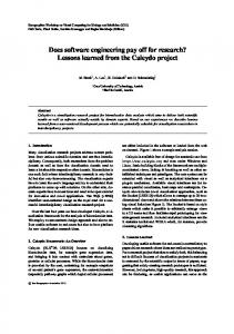 Does software engineering pay off for research? Lessons learned from ...