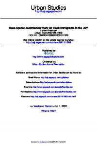 Does Spatial Assimilation Work for Black Immigrants in the US?