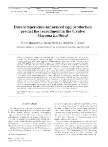 Does temperature-influenced egg production predict the recruitment in ...