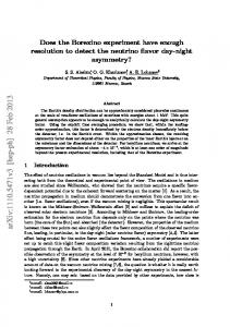 Does the Borexino experiment have enough resolution to detect the