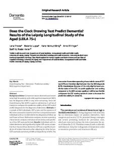 Does the Clock Drawing Test Predict Dementia?